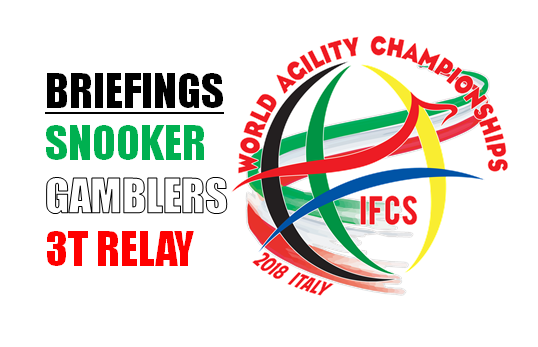 News WAC2018: Snooker, Gambler, 3 Team Relay Briefings uploaded